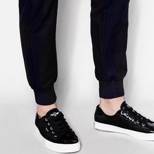 Creative recreation black mesh sneakers lace up